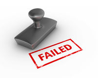 Failed Rubber Stamp Stock Photography