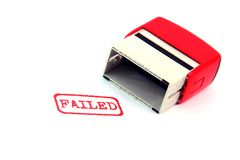 Failed stamp Royalty Free Stock Image