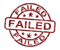 Failed Stamp Showing Reject Or Failure Stock Photo