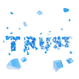 Failed trust as word broken into pieces Royalty Free Stock Photos
