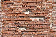 Failing Brick Wall Royalty Free Stock Images