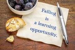 Failing is a learning opportunity Royalty Free Stock Images