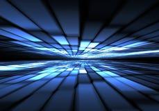 Faille spatio-temporelle abstraite, voyageant dans l'espace Image libre de droits
