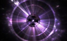 Faille spatio-temporelle, voyageant dans l'espace Images stock