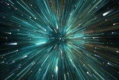 Faille spatio-temporelle, voyageant dans l'espace Dilatation de temps Photographie stock