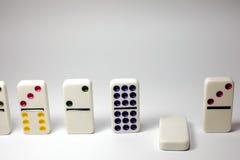 Failling domino Zdjęcie Stock