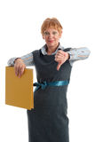 Failure. Portrait of a beautiful mature business woman gesturing failure Royalty Free Stock Image