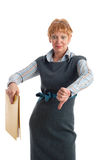 Failure. Attractive mature business woman gesturing failure Royalty Free Stock Photos