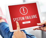 Failure Attacked Hacked Virus AbEnd Concept Stock Photos