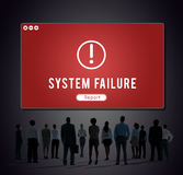Failure Attacked Hacked Virus AbEnd Concept Stock Images