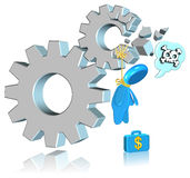 Failure Business. Three dimension style and High Quality Image Royalty Free Stock Photos