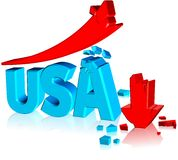 Failure Business USA. Three dimension style and high quality image Royalty Free Stock Image