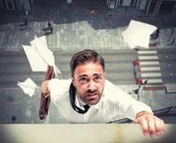 Failure of a businessman due to crisis Stock Photos