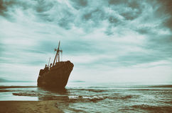 Failure concept, shipwreck Royalty Free Stock Photo