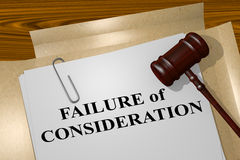 Failure of Consideration - legal concept Stock Photos