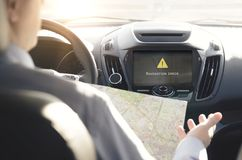 Failure of the GPS navigation system Stock Images