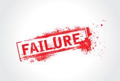 Failure grunge text Stock Images
