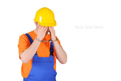 Failure guilty laborer regretful criminal Royalty Free Stock Photography