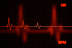 Failure Heart Rate Graph Background Stock Photo
