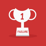 Failure leader trophy Stock Photography