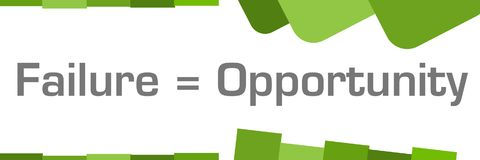 Failure Is Opportunity Green Abstract Shapes Background Royalty Free Stock Photo