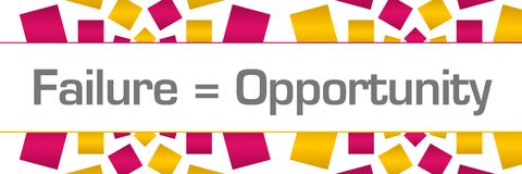 Failure Is Opportunity Pink Golden Texture Horizontal Royalty Free Stock Images