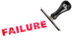 Failure red stamp text on white stock images