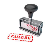 Failure Rubber Stamp. High detail failure stamp over white background Royalty Free Stock Photography