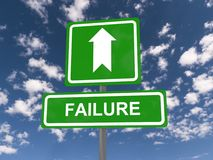 Failure sign with arrow Royalty Free Stock Photography