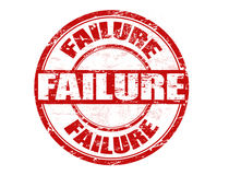 Failure stamp. Red grunge rubber stamp with the word failure written inside the stamp royalty free illustration