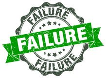 Failure stamp. Failure green stamp. sign. seal Royalty Free Stock Photos