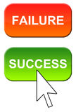 Failure and success. Choosing for success instead of failure Royalty Free Stock Photo