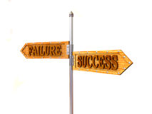 Failure and Success. Blank arrows directions. Failure and Success. 3d Stock Photography