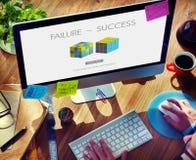 Failure Success Achievement Excellence Failing Concept Royalty Free Stock Photo