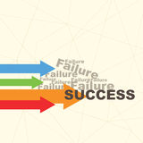 Failure and success Stock Images