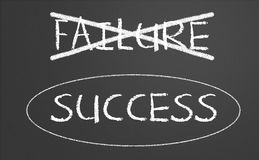 Failure and success concept Royalty Free Stock Images