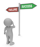 Failure Success Sign Indicates Winning Winner And Triumphant 3d Rendering Royalty Free Stock Images