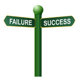 Failure and success symbol Stock Image