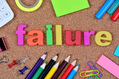 Failure word on cork Royalty Free Stock Images