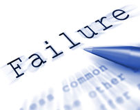 Failure Word Displays Inept Unsuccessful Or Lacking Stock Images