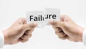 Failure word,hope and motivation concept. Ideas Royalty Free Stock Photo