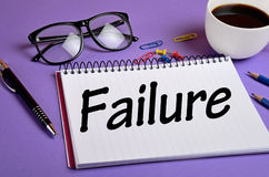 Failure word Stock Image