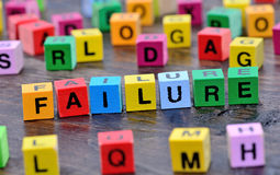 Failure word on table Royalty Free Stock Photo