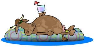 Fainéant de vache Image libre de droits
