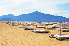 Fainéants de Sun sur la plage d'Iztuzu Images libres de droits