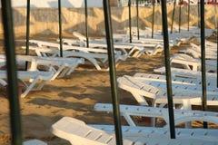 Fainéants vides du soleil Photographie stock libre de droits