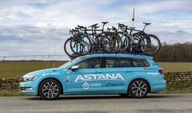 Technical Car of Astana Team - Paris-Nice 2018 royalty free stock image