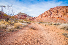 Faint Dirt Path in Nevada Royalty Free Stock Image