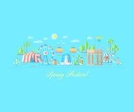 Fair, amusement park spring season Royalty Free Stock Image