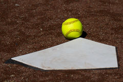 Fair Ball Fastpitch Softball Royalty Free Stock Images